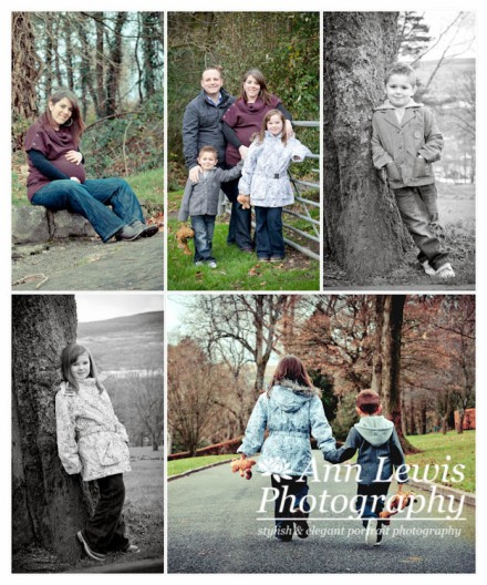 Family Portrait Photo Shoot in the Park