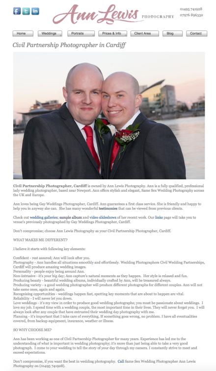 Civil Wedding Partnerships Cardiff
